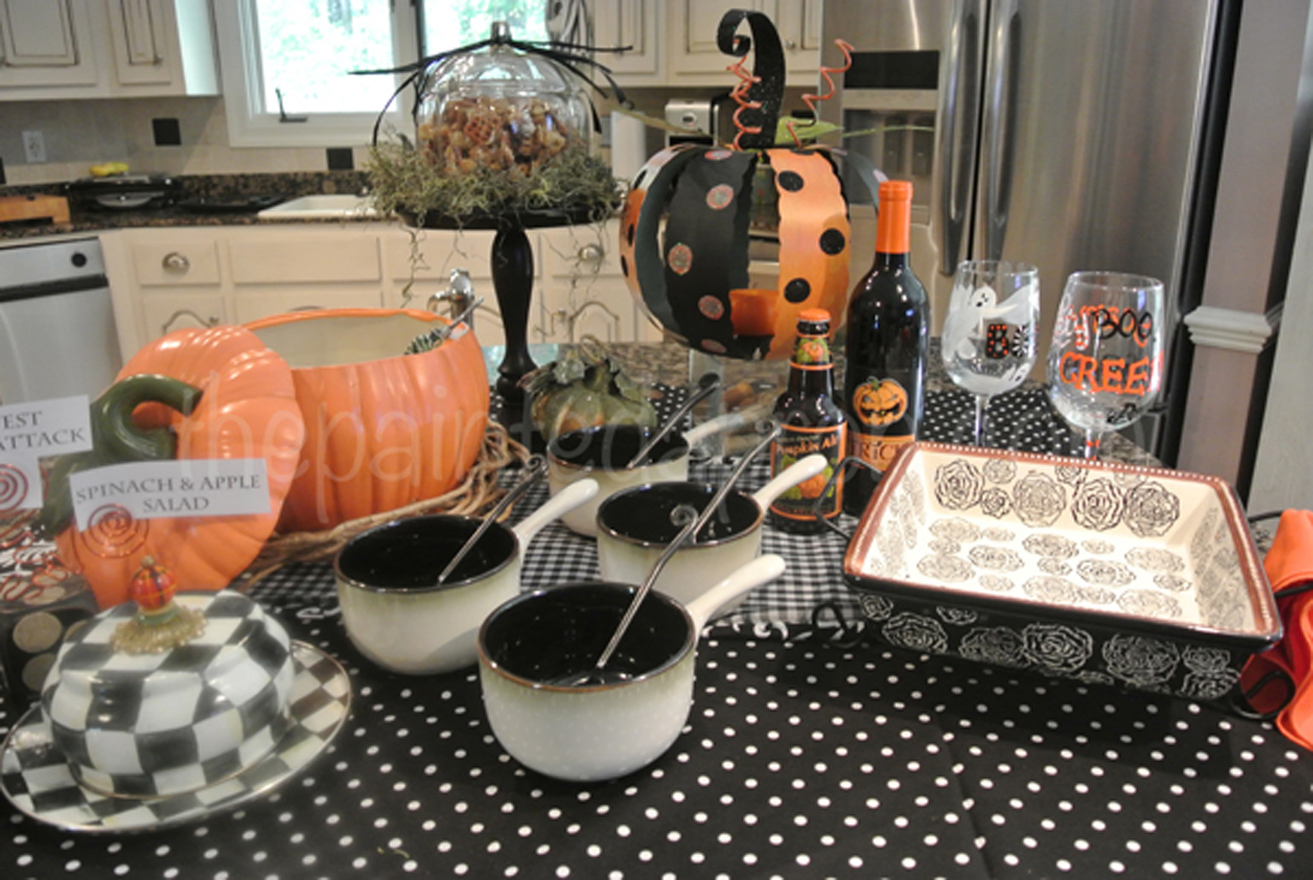 Tablescapes Halloween Beer Cheese Soup Buffet The
