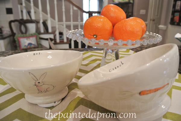 bunny bowls thepaintedapron.com