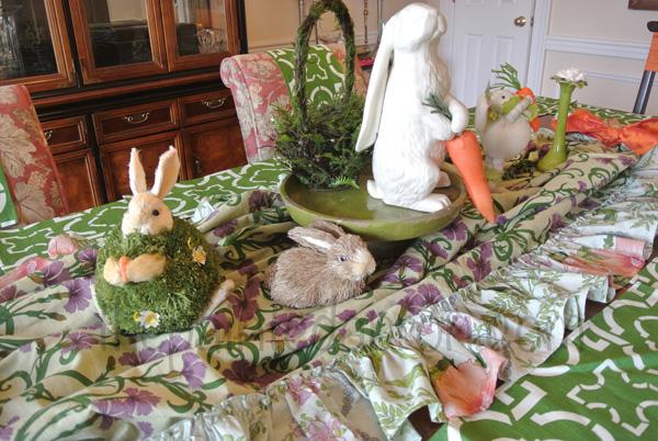 bunny garden step 1 thepaintedapron.com