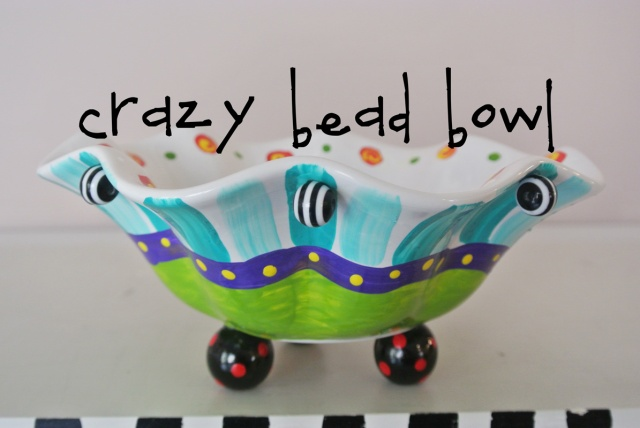 crazy bead bowl thepaintedapron.comjpg