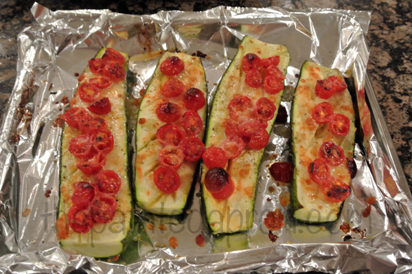 roasted tomato zucchini from thepaintedapron.com