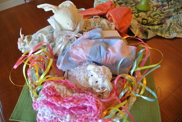 Easter baby basket thepaintedapron.com