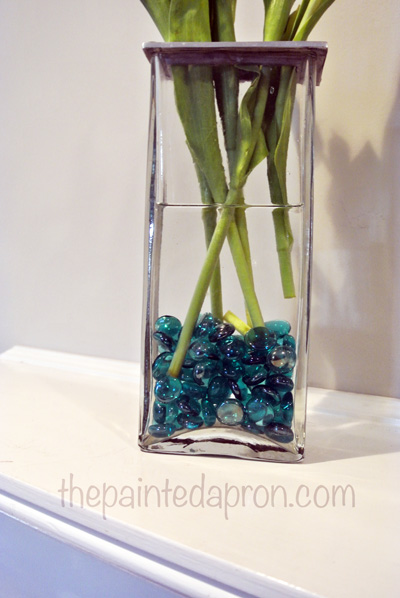 glass beads in vase thepaintedapron.com