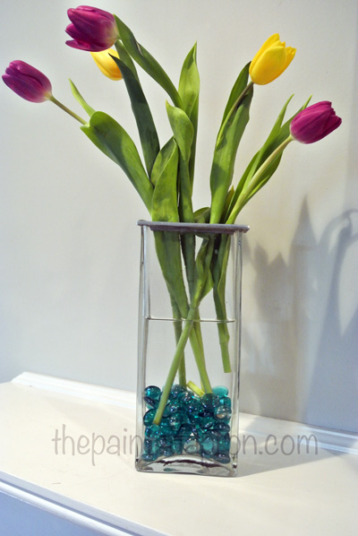 tulip with glass beads thepaintedapron.com