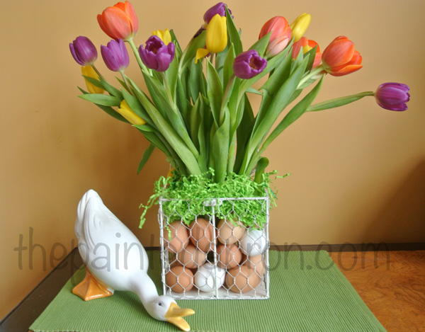 tulips & eggs thepaintedapron.com