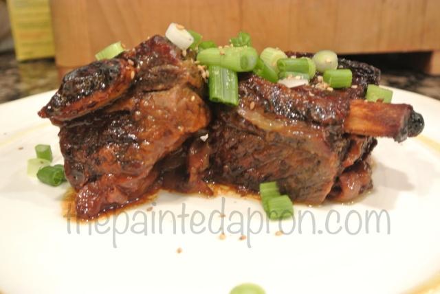 Asian short ribs thepaintedapron.com