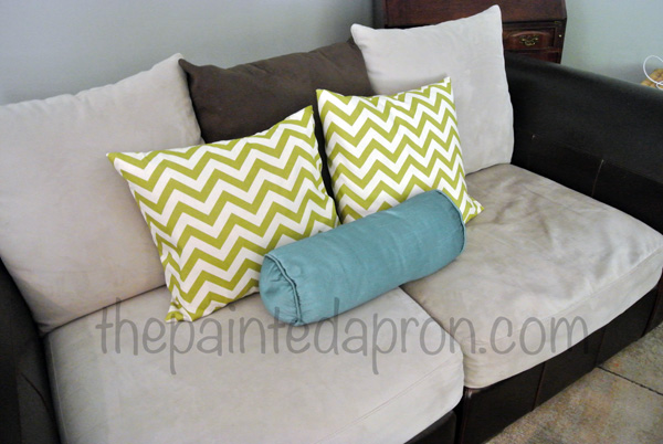 chvron pillows thepaintedapron.com