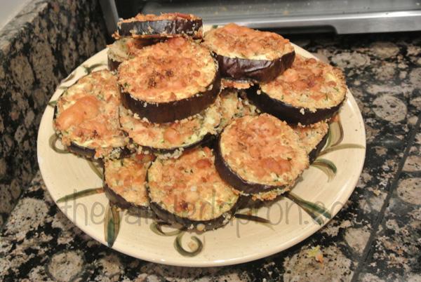 eggplant Parmesan chips thepaintedapron.com