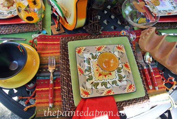 mexican place setting thepaintedapron.com