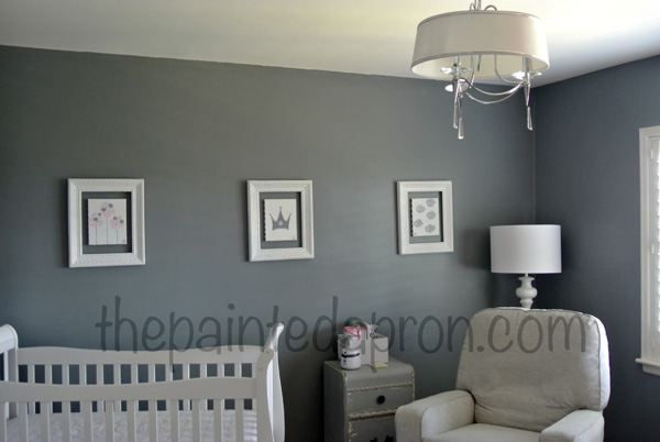 Light Gray Wall Paint: Home decor, Nursery ideas | The Painted Apron - light gray paint colors for  nursery,Lighting