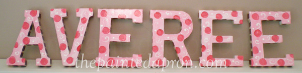 painted letters thepaintedapron.com