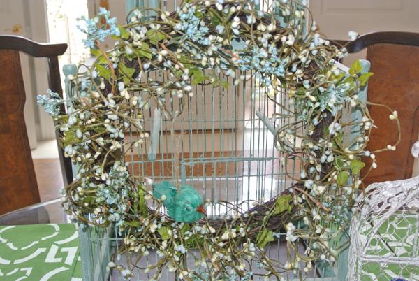 spring wreath thepaintedapron.com