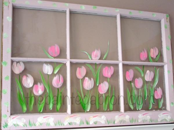 tulips and bunnies thepaintedapron.com