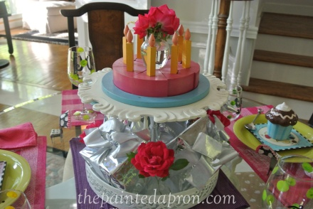 cake table thepaintedapron.com