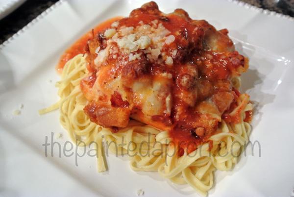 chicken parmesan thepaintedapron.com