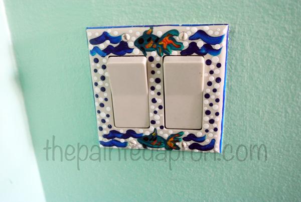 fish switchplate thepaintedapron.com