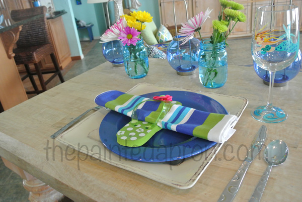 flip flop place setting the paintedapron.com