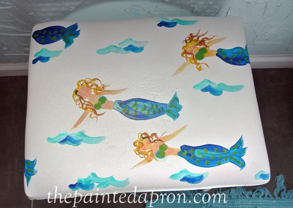 mermaid seat thepaintedapron.com