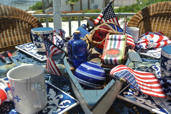 red white and blue table thepaintedapron.com