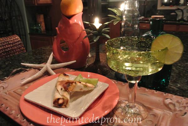 taquitos & candles thepaintedapron.com