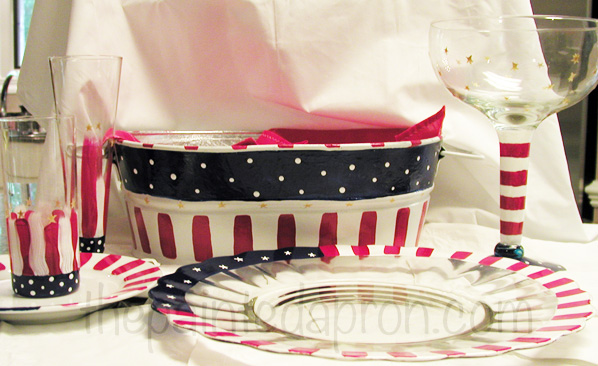 4th of July bucket thepaintedapron.com