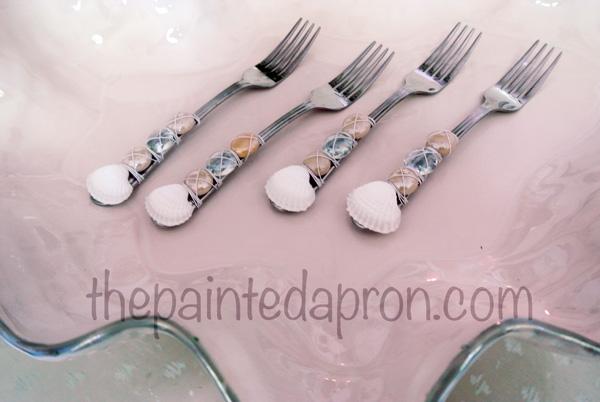 embellished silverware thepaintedapron.com