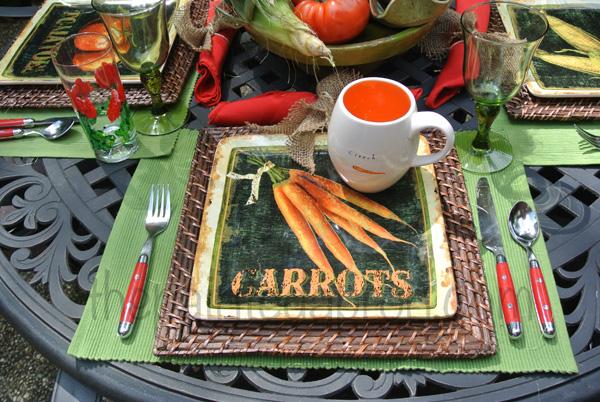 garden setting thepaintedapron.com