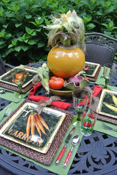 garden vegetable table thepaintedapron.com 2