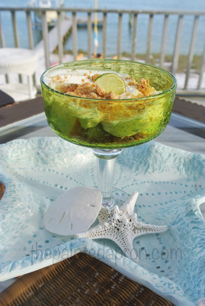 key lime jello cake parfait thepaintedapron.com