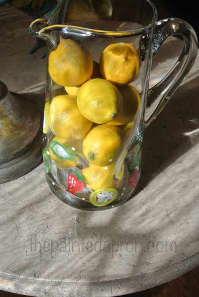 lemon pitcher 2 thepaintedapron.com