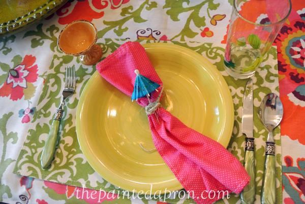 parasol napkin thepaintedapron.com