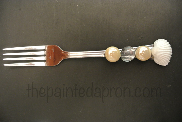 sea shell fork thepaintedapron.com