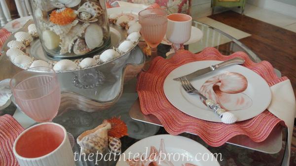sea shell table 7 thepaintedapron.com