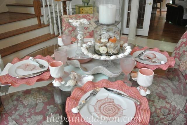 seashell tablescape 8 thepaintedapron.com
