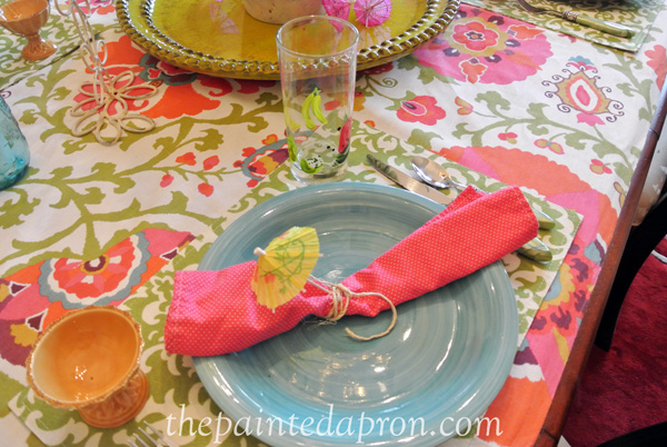 summer place setting thepaintedapron.com