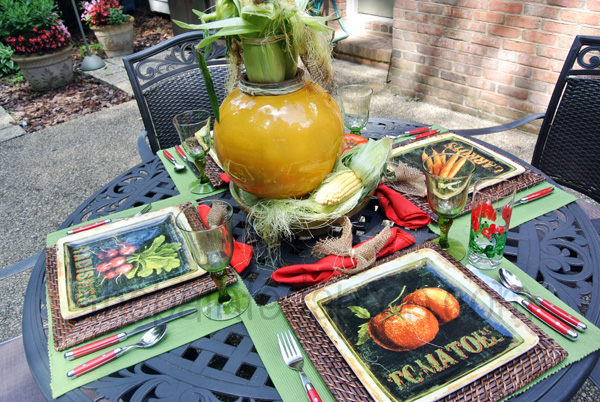 vegetable garden table 2 thepaintedapron.com