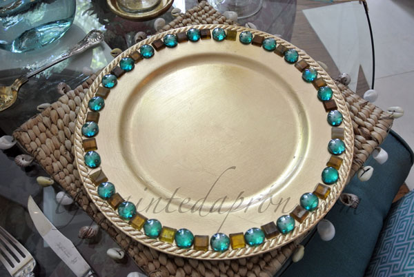 embellished charger thepaintedapron.com