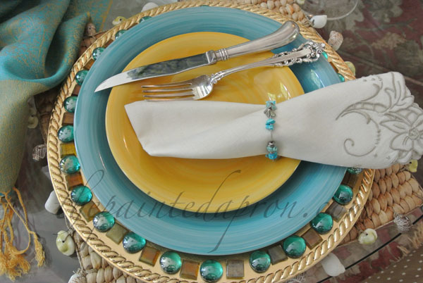 Moroccan place setting thepaintedapron.com