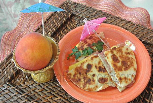 peach quesadillas thepaintedapron.com