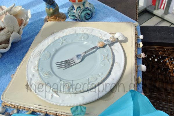 seashell plates thepaintedapron.com