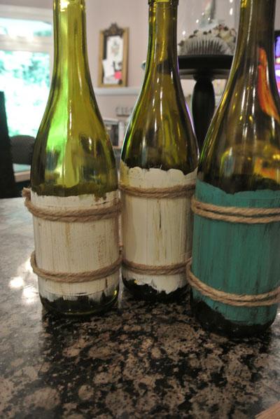 jute trimmed bottles thepaintedapron.com