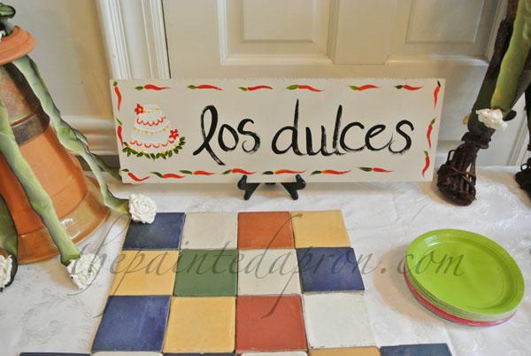 los dulces sign thepaintedapron.com