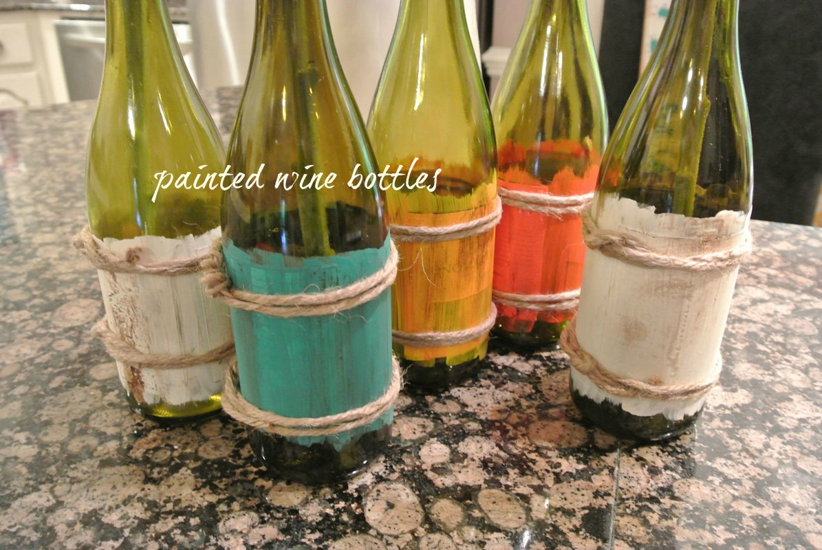 Creations got a wine bottle the painted apron for What kind of paint to use for wine bottles