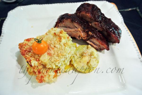 squash casserole & ribs thepaintedapron.com