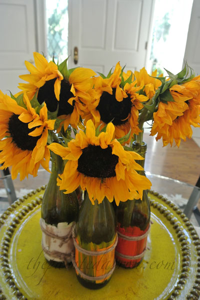 Tablescapes Sunflower Table And Fiesta Chowder The