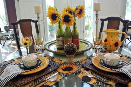 sunflower table thepaintedapron.com