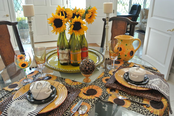 sunflower tablescape thepaintedapron.com