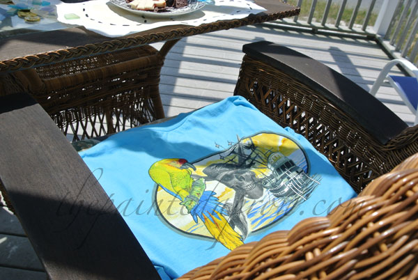 t-shirt cushion cover thepaintedapron.com