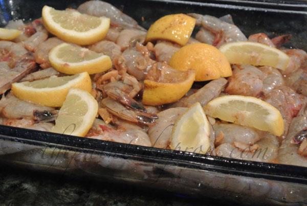 bbq shrimp prep thepaintedapron.com