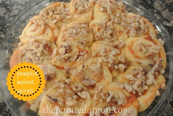 pumpkin walnut spirals thepaintedapron.com